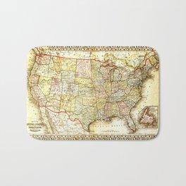 1867 USA Map Bath Mat