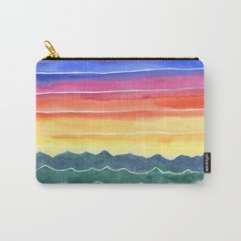 Mountains of Waves Watercolor Painting Carry-All Pouch