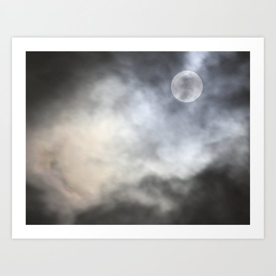 Moon Light, Moon night! Art Print