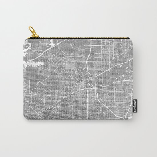 Fort Worth map grey Carry-All Pouch