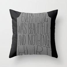 slaughterhouse V - everything was beautiful - vonnegut Throw Pillow