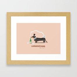 KIM KARDASHIHUND Framed Art Print