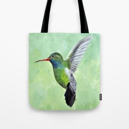 Green Hummingbird Art, Small Bird Painting, Birds and Berry Studio Tote Bag