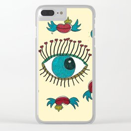 SEE LOVE IN THE AIR Clear iPhone Case