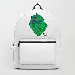 Teal and Green Iguana Backpack