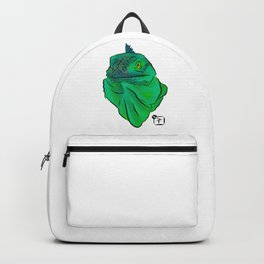 Teal and Green Iguana Backpack