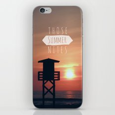 Those Summer Nights (Reprise) iPhone & iPod Skin