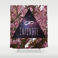 infinite Shower Curtains featuring Infinite by Maria Lugilde