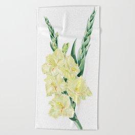 Gladiolus Beach Towel