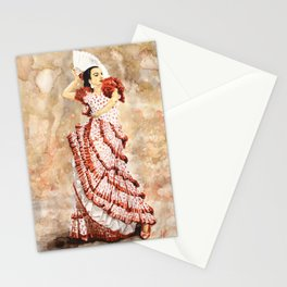 Spanish Flamenco Dancer Stationery Cards