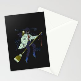 Witch Series: Broomstick Stationery Cards