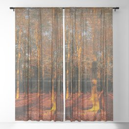 Autumn Sun Sheer Curtain