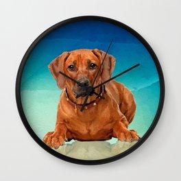 Rhodesian Ridgeback  Puppy Wall Clock