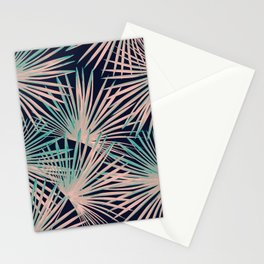 Tropical Fan Palm Leaves #5 #tropical #decor #art #society6 Stationery Cards
