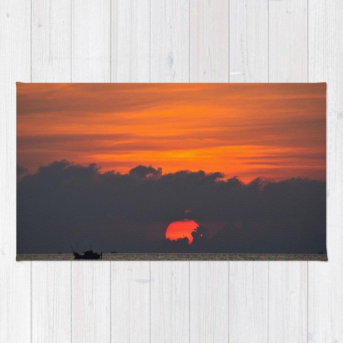 Vietnamese Sunset Rug