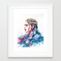 alicexz Framed Art Prints featuring Dragonqueen by Alice X. Zhang