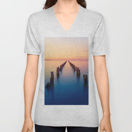 Old Pier Remains In Clifton Springs Victoria Australia Ultra HD Unisex V-Neck