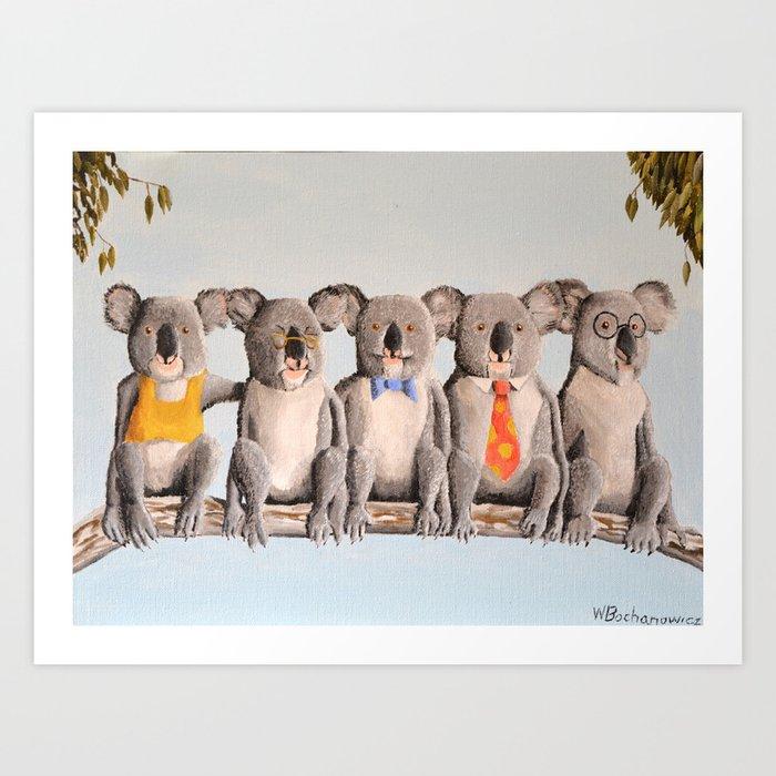 The Five Koalas Art Print