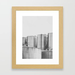 Industrial architecture, urban photography, still life, interior design, interior decoration, city Framed Art Print