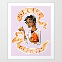 wtnv Art Prints featuring Beware the Oranges by Livvy