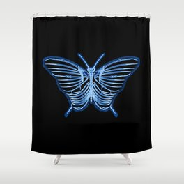Butterfly Anatomy Shower Curtain