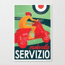 Motoretta Servizio Canvas Print
