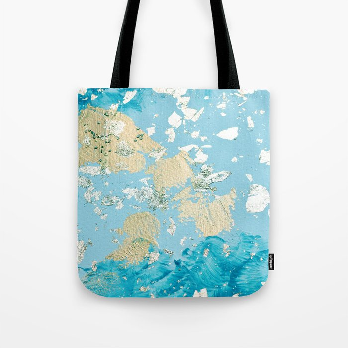 Gold Abstract Modern Painting Tote Bag