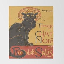 Tournee du Chat Noir De Rodolphe Salis Vector Throw Blanket