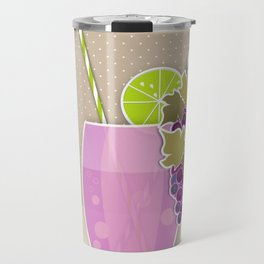 """Picture. The grape juice. From a set of paintings. The """"kitchen"""". Travel Mug"""