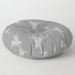 Grey Ballerinas Floor Pillow