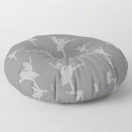 Grey Ballerinas Floor Pillow