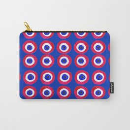 Donut Evil Eye Amulet Talisman - red on blue doughnut Carry-All Pouch