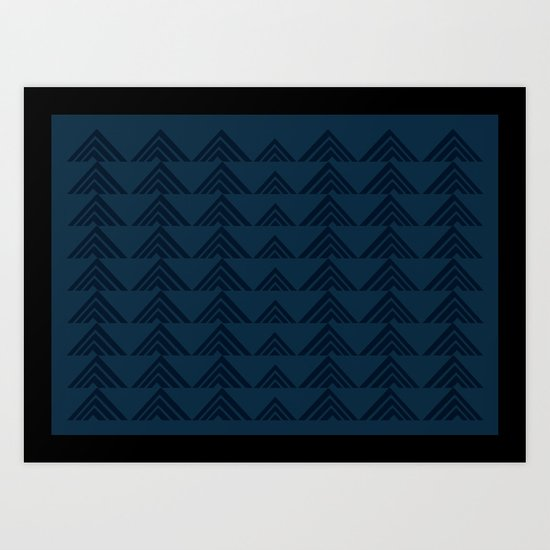 Tan Triangles Print Art Print