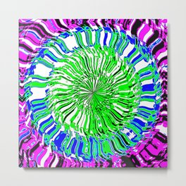 Kaleidoscopic Visions: tres colores Metal Print