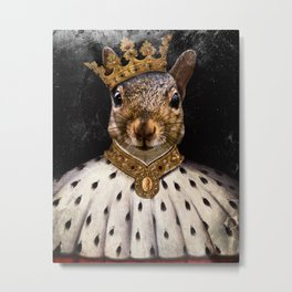 Lord Peanut (King of the Squirrels!) Metal Print