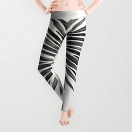 Tropical Fan Palm – Black Leggings