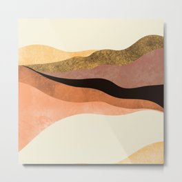 Abstract Hills 1 Metal Print