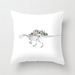 Spino-peony-saurus Throw Pillow