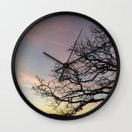 Subtle savanna sunset - Pheasant Branch Conservancy Wall Clock