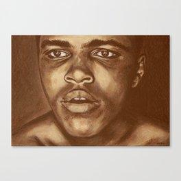 round 1...cassius clay Canvas Print