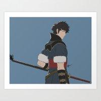 fire emblem Art Prints featuring Lon'Qu - Fire Emblem Awakening  by MKwon