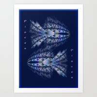 pisces Art Prints featuring Pisces by Giada Rossi