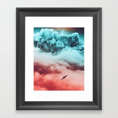 Partly cloudy Framed Art Print