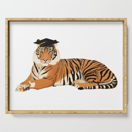 Graduation Tiger Serving Tray