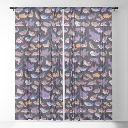 Shark day Sheer Curtain