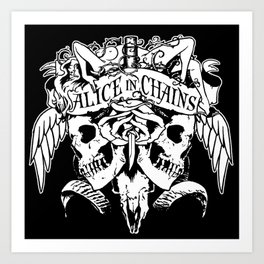 alice in chains logo tour 2020 2021 ngapril Art Print