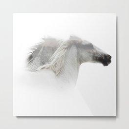 Double Exposure horses Metal Print
