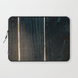 Sunlight dark wooden lumber fence Laptop Sleeve