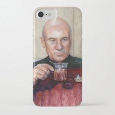 Tea. Earl Grey. Hot. Captain Picard Star Trek   Watercolor Slim Case iPhone 7