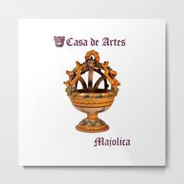 Majolica Incense Burner - Casa de Artes Metal Print